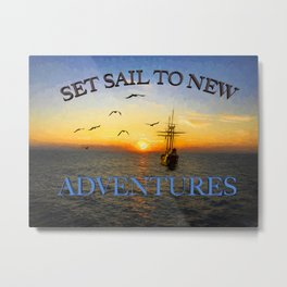New adventures painting - by Brian Vegas Metal Print