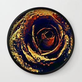 Rose with tears crossing Wall Clock