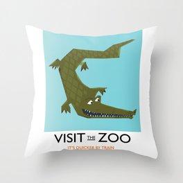 Visit the zoo Alligator Throw Pillow