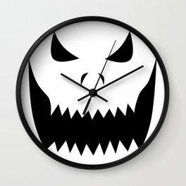 Scary Jack O'Lantern Face Wall Clock
