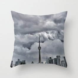 CN Tower Storm is coming  The 6ix Throw Pillow