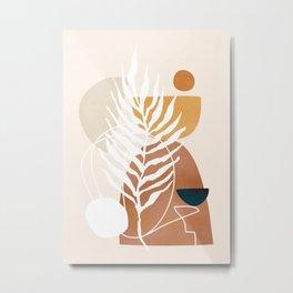 Minimal Abstract Shapes No.75 Metal Print