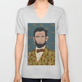 Abe Lincoln Unisex V-Neck