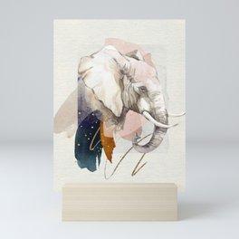 Elephant Portrait Soft Watercolor Painting Mini Art Print