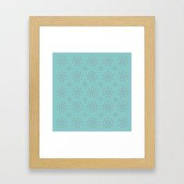 3D Texture Turquoise - Pointilism Pattern Framed Art Print