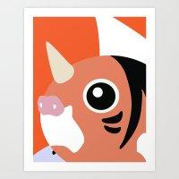 Close Up Art - Seak Art Print