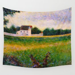 Landscape of the Ile de France Post-Impressionism landscape Oil Painting Countryside Cottages Farm Wall Tapestry