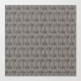 Gray brown abstract christmas trees Canvas Print