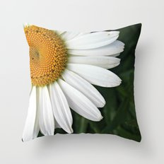 white & yellow Throw Pillow
