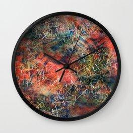 Sketchy Abstract Wall Clock