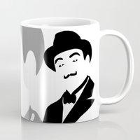 hercules Mugs featuring Hercules Poirot by b & c