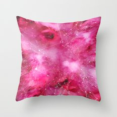 Pink Galaxy Print Throw Pillow