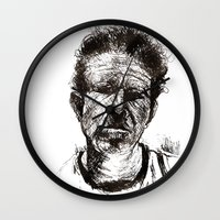 tom waits Wall Clocks featuring Tom Waits Bad As Me  by b_ethany