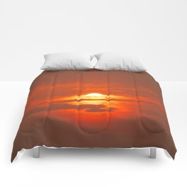 Sunset in Canada Comforters