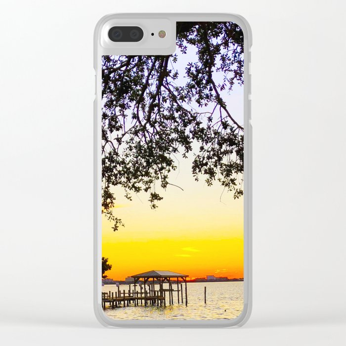 Summer Sunset Over the Bay Clear iPhone Case