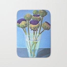 Artichoke flowers Bath Mat