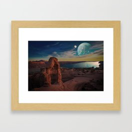Space Desert Framed Art Print