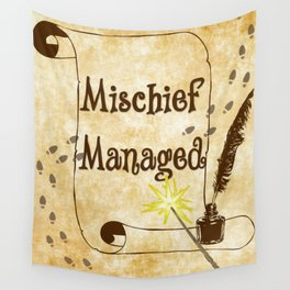 Mischief Managed Harry Potter Marauder's Map  Wall Tapestry