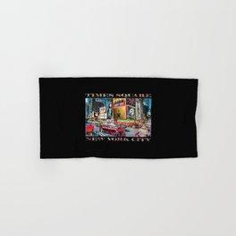 Times Square II (widescreen on black) Hand & Bath Towel