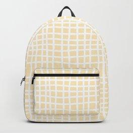 coconut cream thread random cross hatch lines checker pattern Backpack