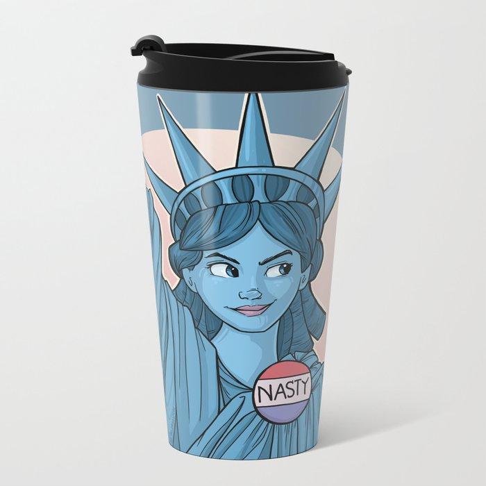 Nasty Lady Liberty Metal Travel Mug