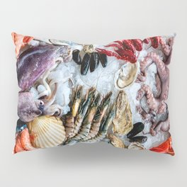 seafood on ice Pillow Sham