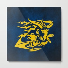 Goat with Anchor Metal Print