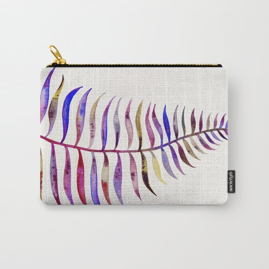 Magenta Palm Leaf Carry-All Pouch
