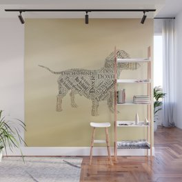 Dachshund Word Art Wall Mural