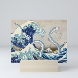 Haku and the Great Wave Mini Art Print