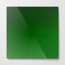 Emerald Green Ombre Design Metal Print