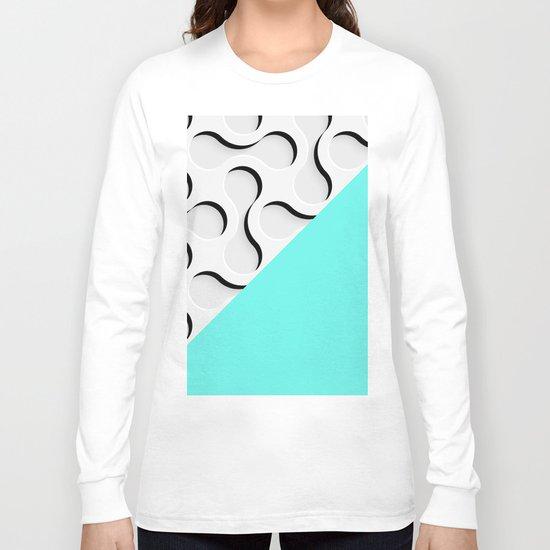 geometric in blue Long Sleeve T-shirt