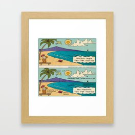Scientist Vacations Framed Art Print