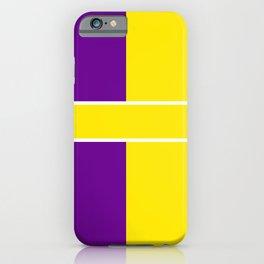 TEAM COLOR 6....Yellow,purple iPhone Case