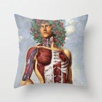 apollo Throw Pillows featuring Apollo by DIVIDUS