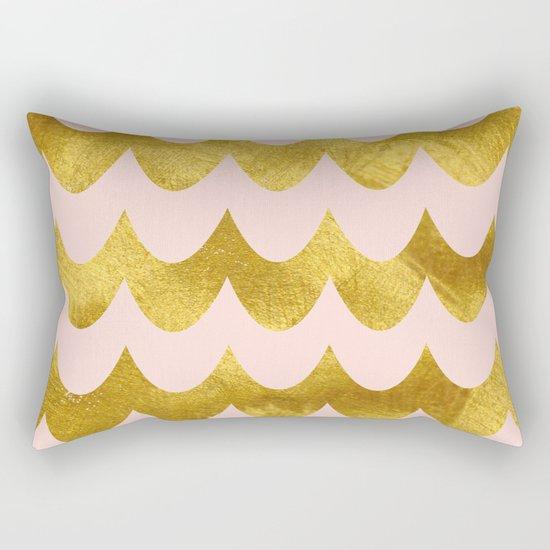 Pink Gold Foil 04 Rectangular Pillow