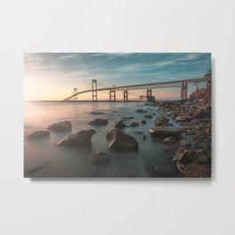 Newport Claiborne Pell Bridge Metal Print