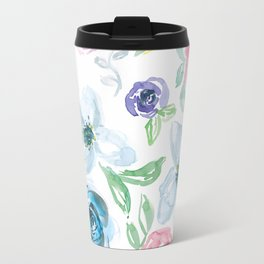 Sweet Soft Watercolor Floral Travel Mug