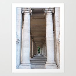 Roman colomns Art Print