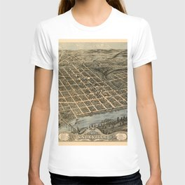 Map Of Knoxville 1871 T-shirt