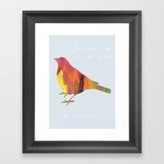 The Flying Spirit Framed Art Print