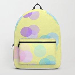 Muster große farbige Punkte Gelb Backpack