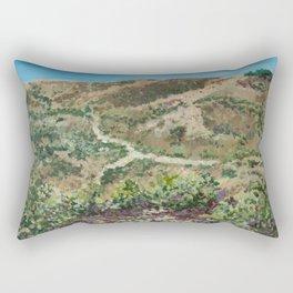 Boise foothills painting Rectangular Pillow