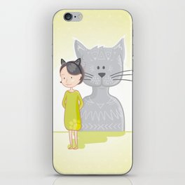 Cat's spirit iPhone Skin