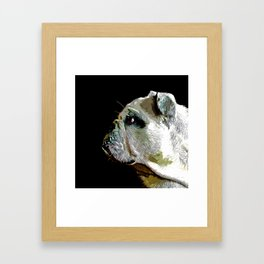 english bulldog dog vector art Framed Art Print
