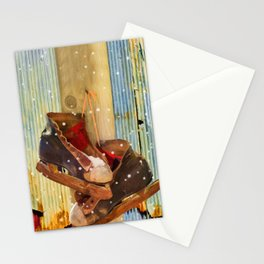 Vintage Ice Skates by Liane Wright Stationery Cards
