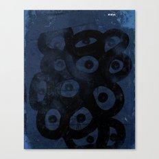 Dark Blue on Blue Canvas Print