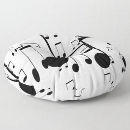 music notes Floor Pillow