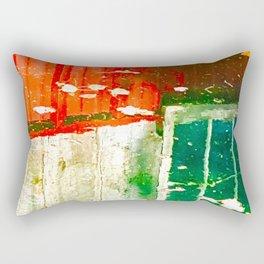 City Aflame and Drowning Rectangular Pillow