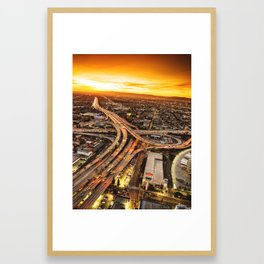 los angeles junction Framed Art Print